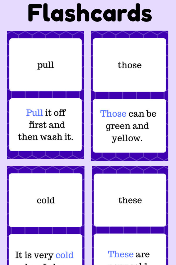 Second Grade Sight Word Flashcards at thatbaldchick.com