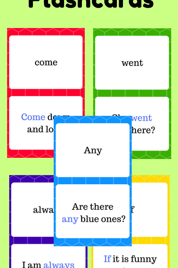 Dolch Sight Word Flashcards at thatbaldchick.com