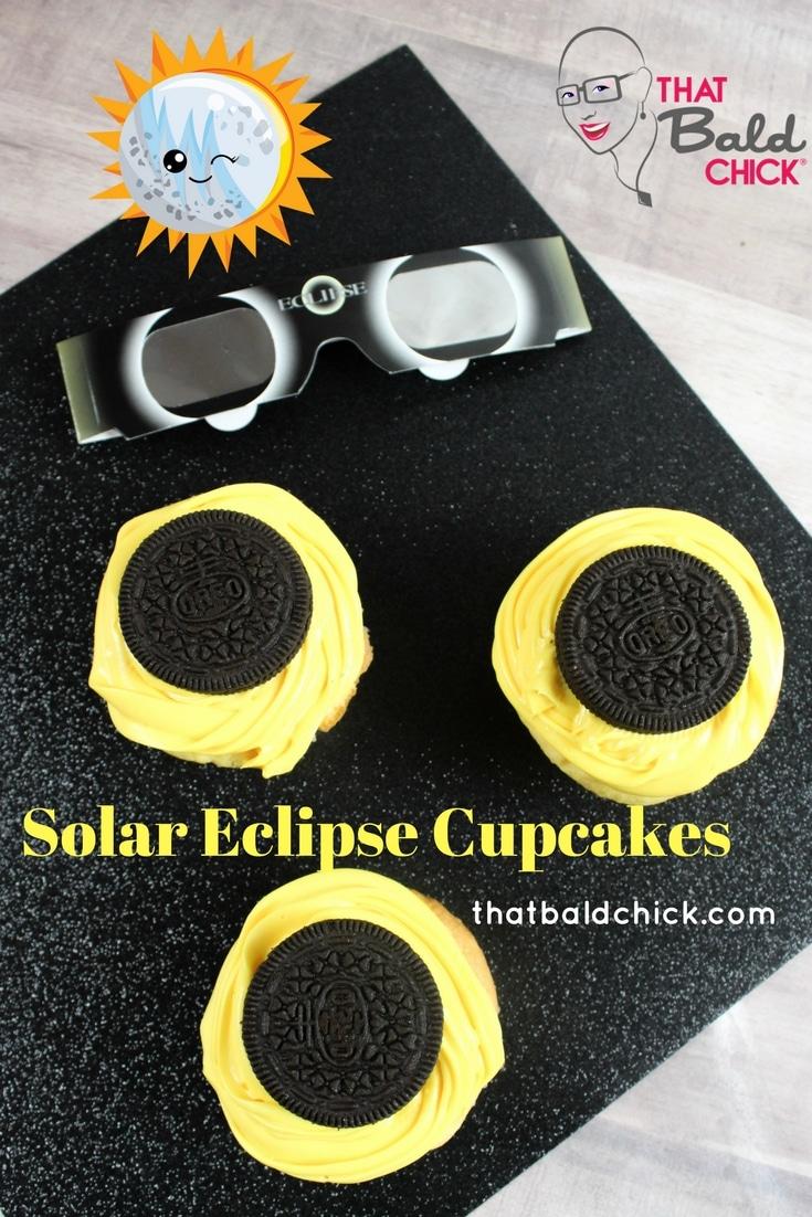 Solar Eclipse Cupcakes at thatbaldchick.com