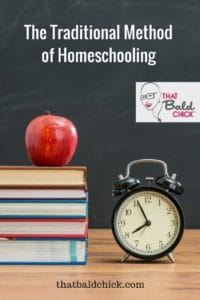 Learn more about The Traditional Method of Homeschooling at thatbaldchick.com