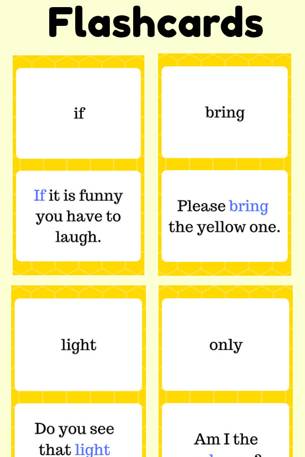 Third Grade Sight Word Flashcards at thatbaldchick.com