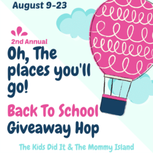 Oh the places you'll go back to school giveaway hop
