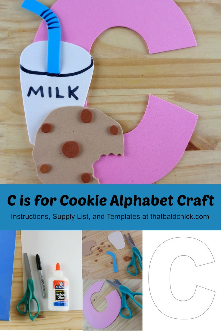 C is for Cookie Alphabet Craft at thatbaldchick.com