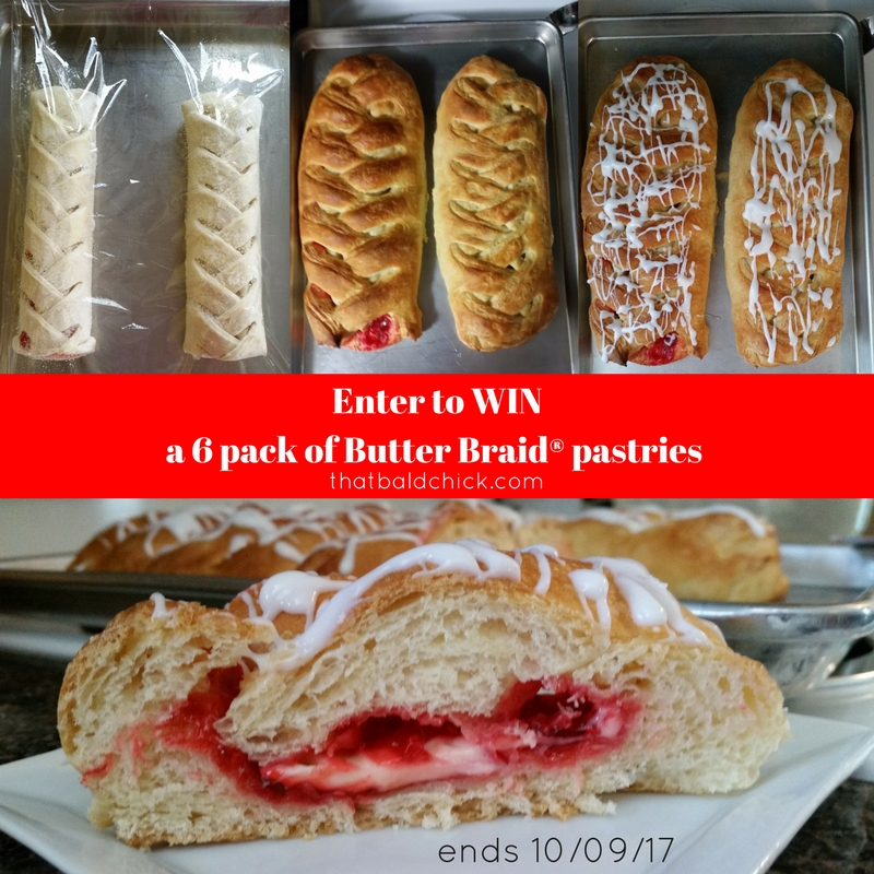Enter to win Butter Braid® pastries at thatbaldchick.com. Ends 10/9!