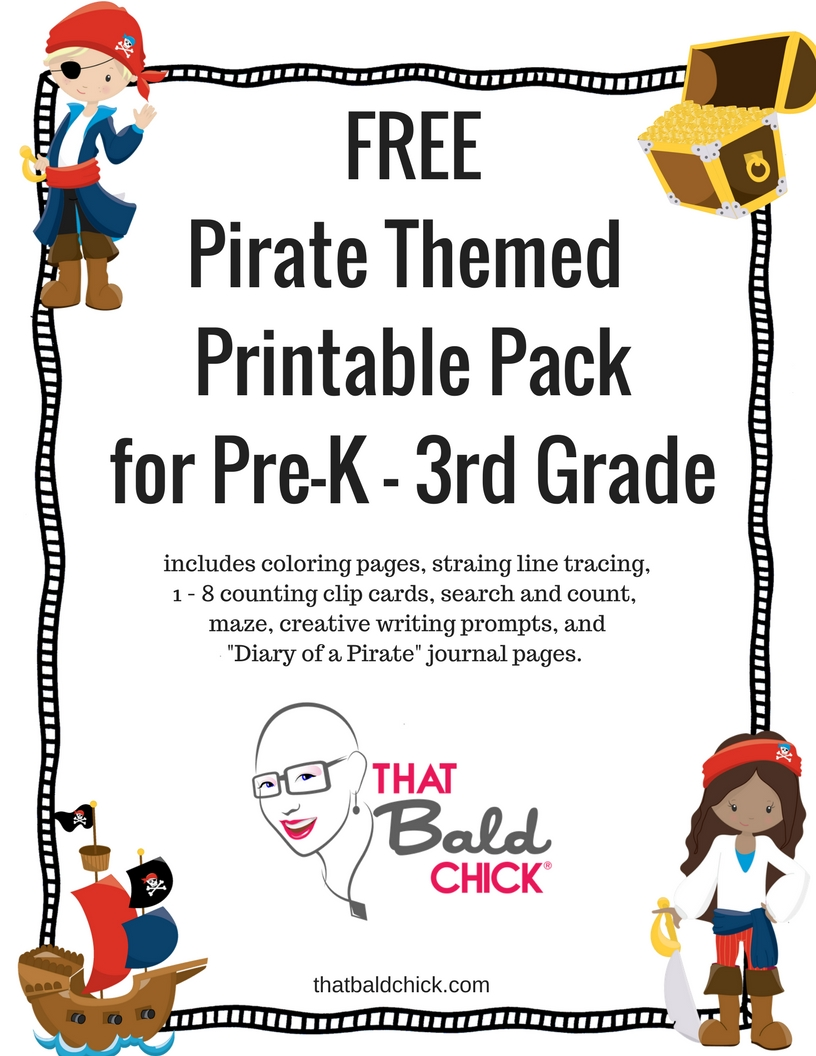 Free Pirate Printable Pack at thatbaldchick.com