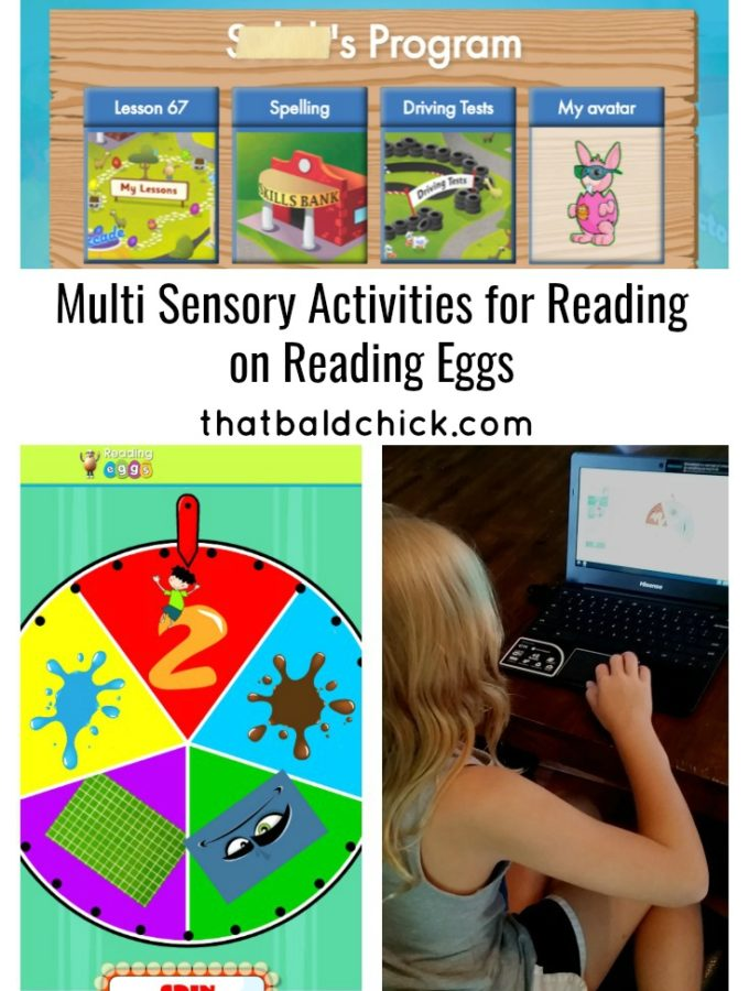 Multi Sensory Activities for Reading at thatbaldchick.com