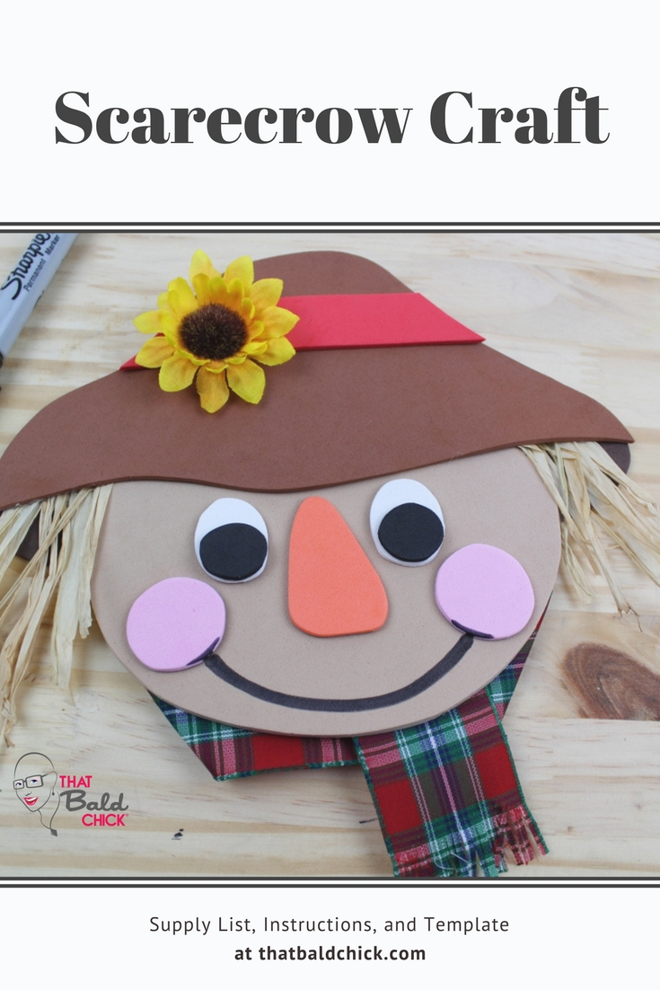 Make this fun scarecrow craft for Fall. Supply list, Instructions, and Template at homeschoolsteamboat.com
