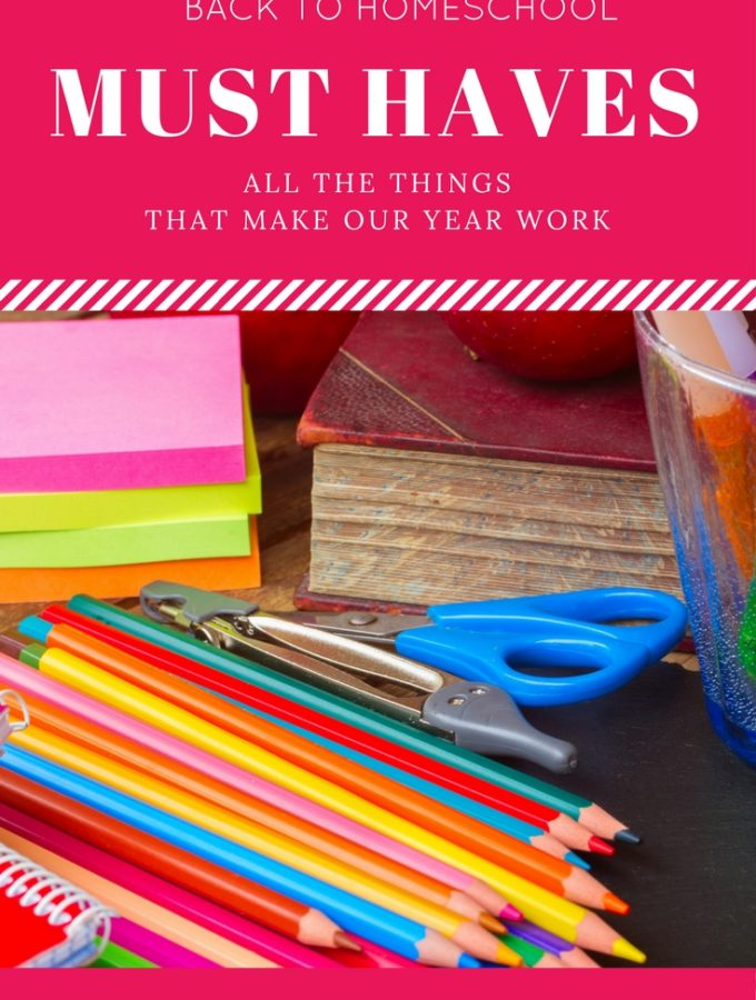 back to homeschool must haves at thatbaldchick.com