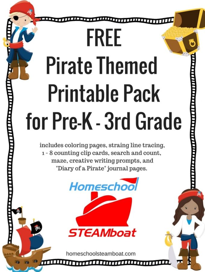 Pirate Themed Printable Pack