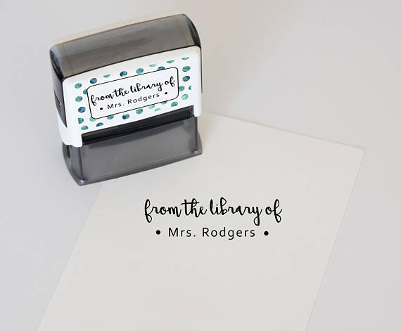 self inking library of stamp by DeskCandy