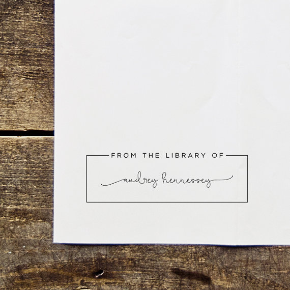 simple bookplate stamp by packagery