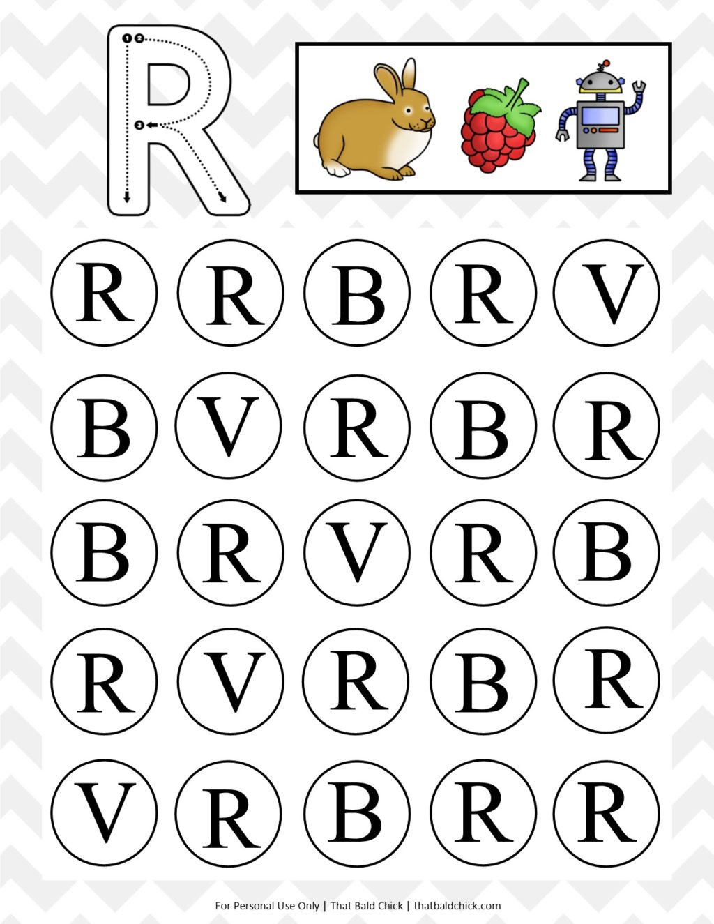picture regarding Letter R Printable referred to as Uppercase Do A Dot Letter R - That Bald Chick®