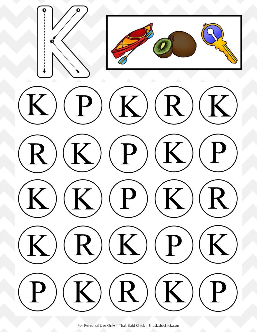 Uppercase Do a Dot Letter K