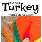 There's nothing cuter on the Thanksgiving table than handmade crafts from the little ones. This craft stick turkey will delight everyone.
