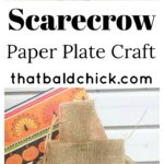 Step into fall with this super cute scarecrow paper plate craft at thatbaldchick.com