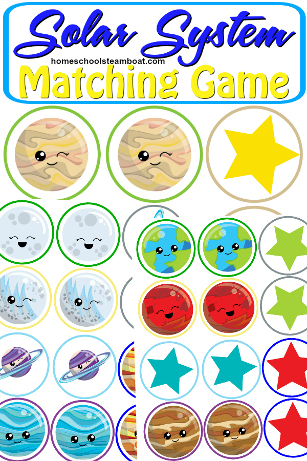 Get this free printable Solar System Matching Game at homeschoolsteamboat.com