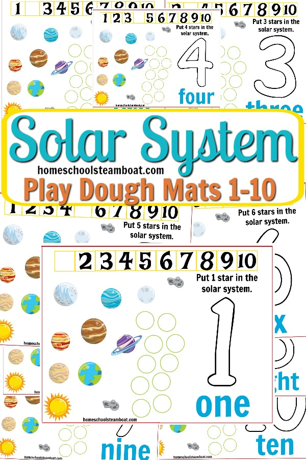 Solar System Play Dough Mats