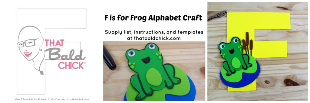 F Is For Frog Alphabet Craft That Bald ChickR
