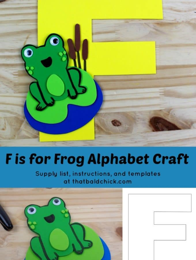 F is for Frog Alphabet Craft