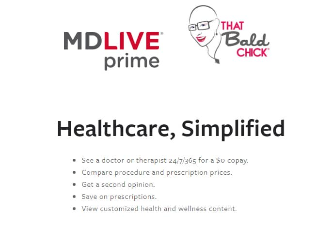 See how MDLive simplifies healthcare at thatbaldchick.com