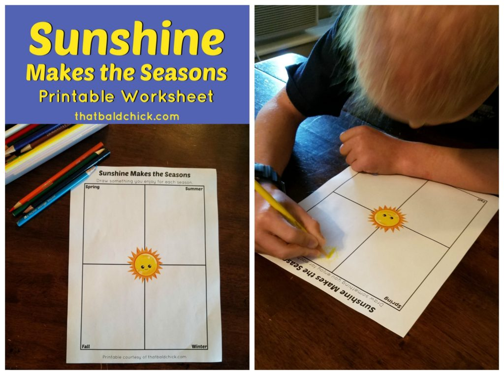 Sunshine makes the seasons printable at thatbaldchick.com