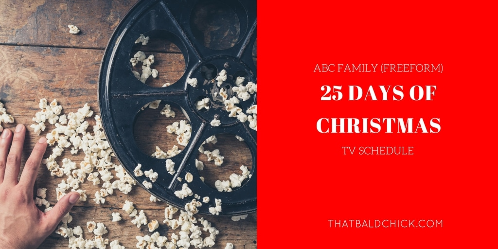 25 days christmas tv schedule