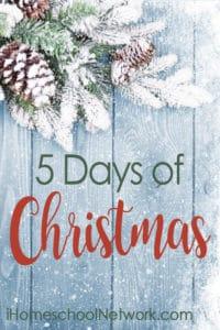 iHomeschool Network Bloggers 5 Days of Christmas