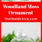 This #homemade woodland moss #ornament is elegant and beautiful! Supply list and directions at thatbaldchick.com #holiday #Christmas