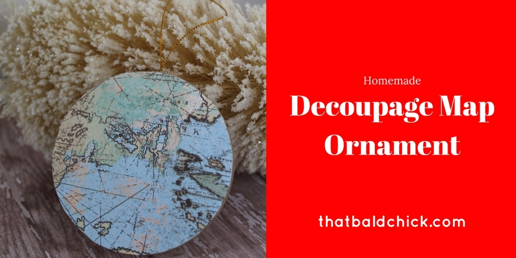 homemade Decoupage Map Ornament