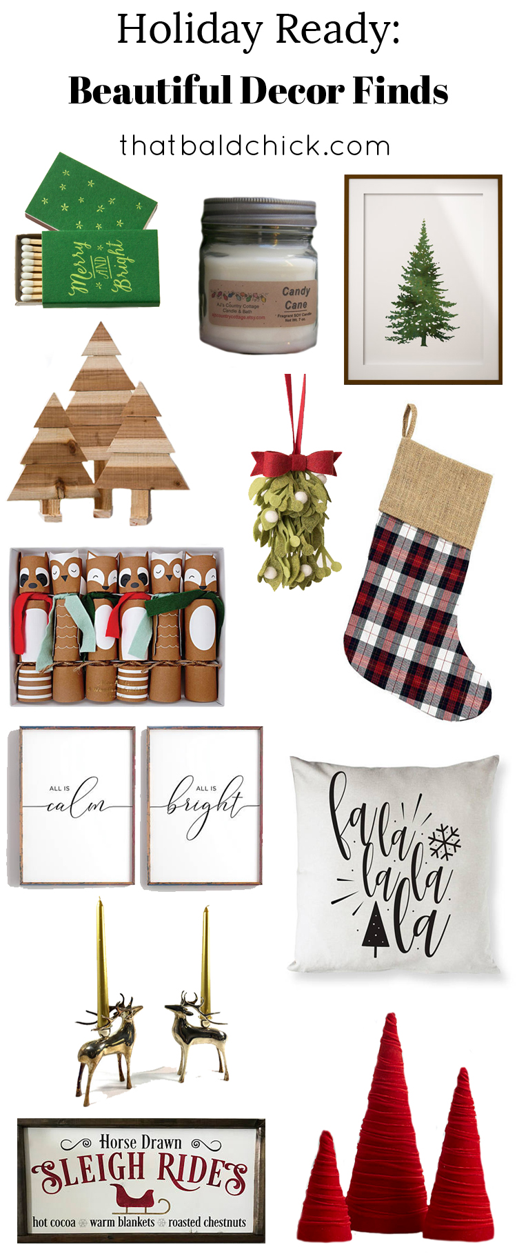 Holiday Home Finds at thatbaldchick.com