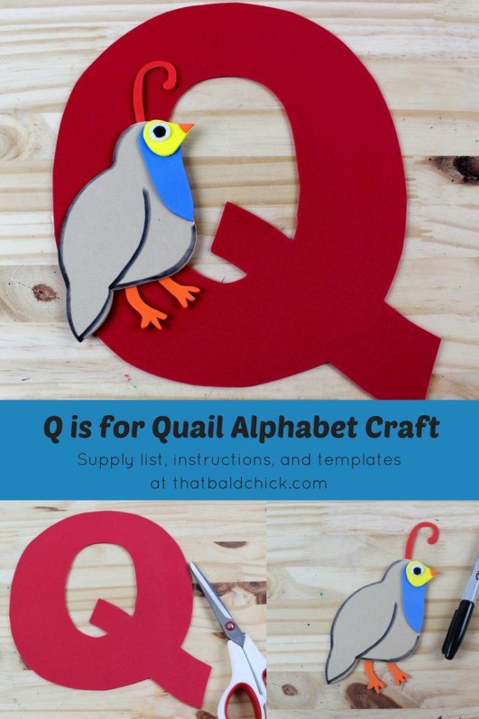 Q is for Quail Alphabet Craft