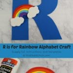 R is for Rainbow Alphabet Craft