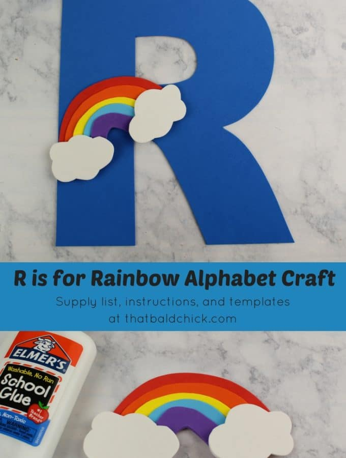 Get the supply list, instructions, and templates for this R is for Rainbow Alphabet Craft today! #homeschool #teacher #alphabet #abcs #lotw #free #printable