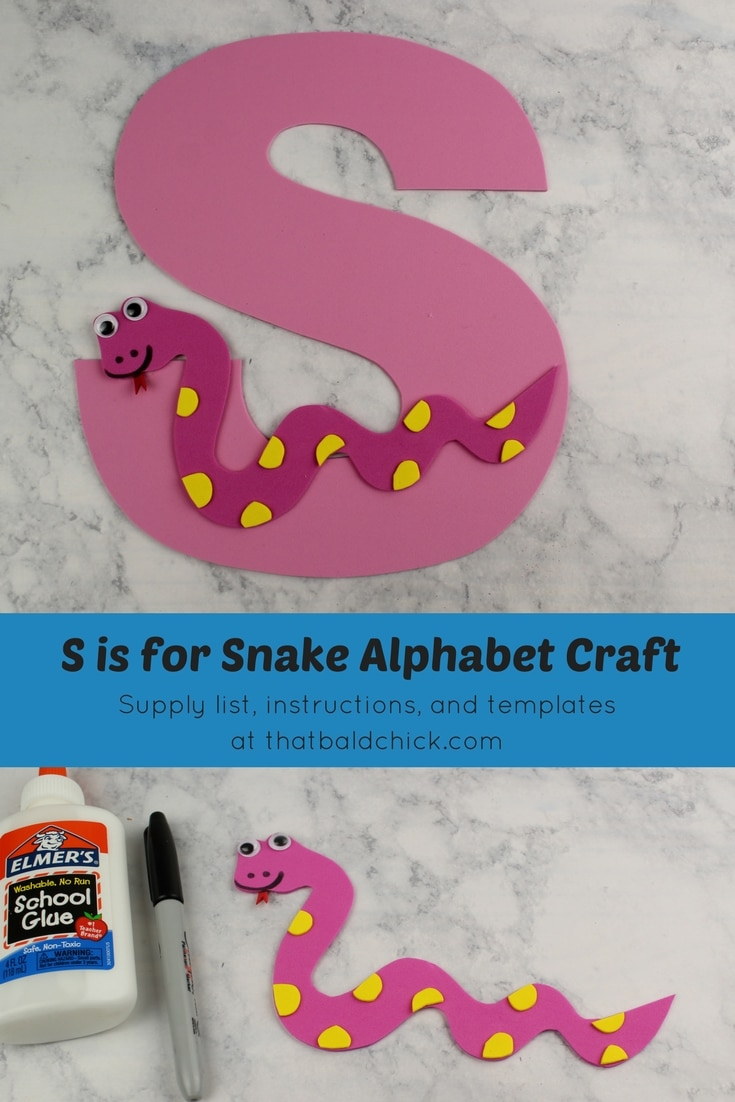 Get the supply list, instructions, and templates for this S is for Snake Alphabet Craft today! #homeschool #teacher #alphabet #abcs #lotw #free #printable