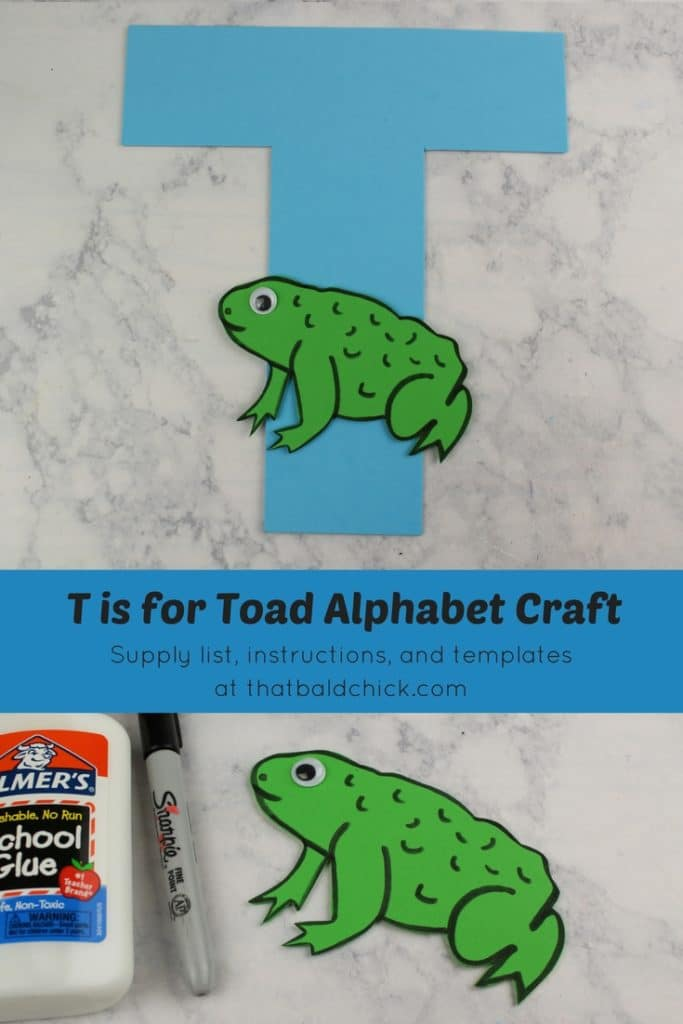 T is for Toad Alphabet Craft