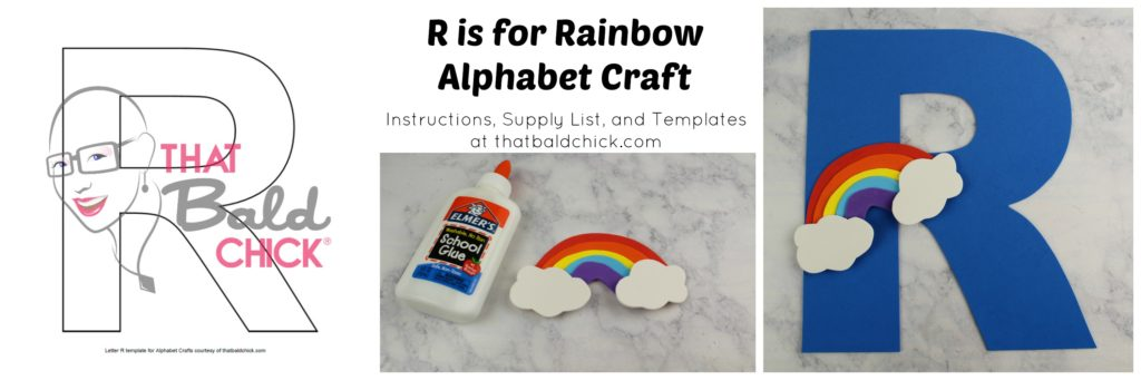 r is for rainbow alphabet craft that bald chick