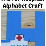 H is for Hospital Alphabet Craft - supply list, instructions, and templates at thatbaldchick.com