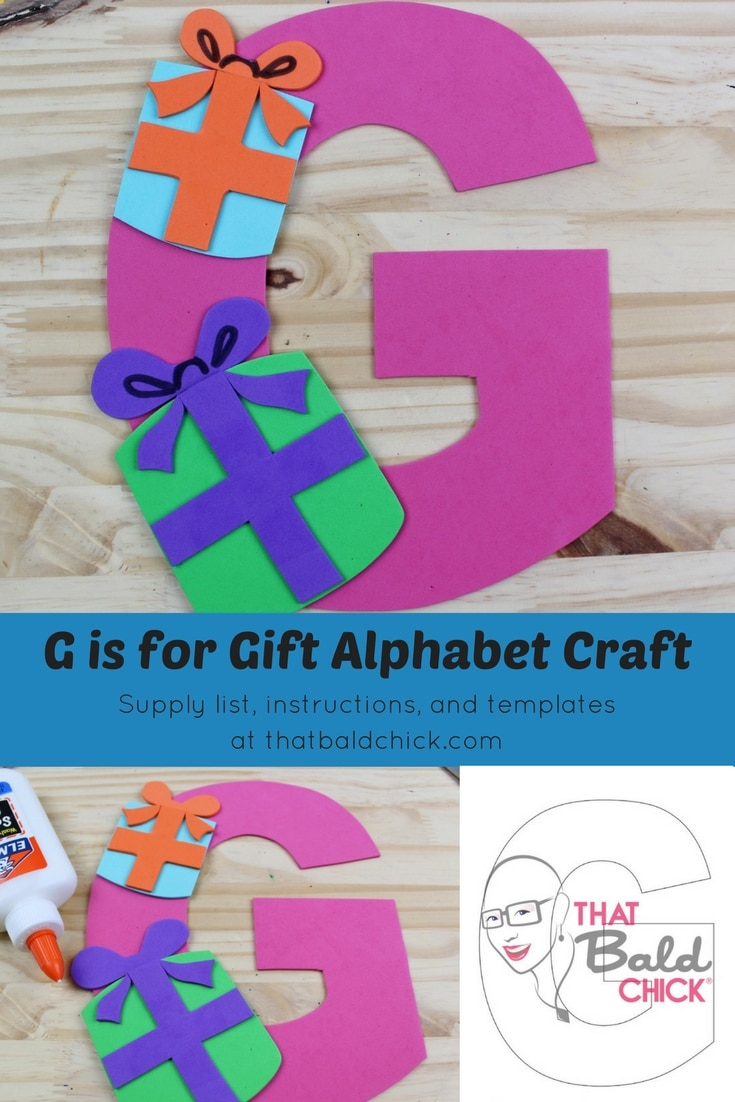 letter g crafts g if for gift alphabet craft that bald 22861 | Letter G Craft