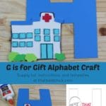H is for Hospital Alphabet Craft
