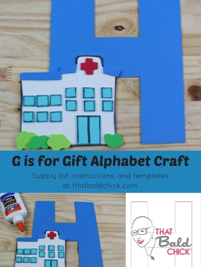Letter H Craft - supply list, instructions, and templates at thatbaldchick.com