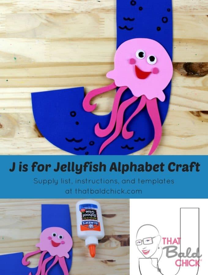 Letter J Alphabet Craft - supply list, instructions, and templates at thatbaldchick.com