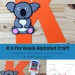 K is for Koala Alphabet Craft