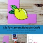 L is for Lemon Alphabet Craft