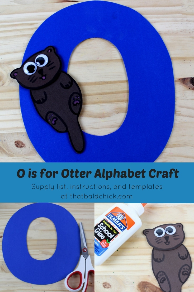 O is for Otter Alphabet Craft