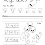 Letter V Alphabet Writing Practice