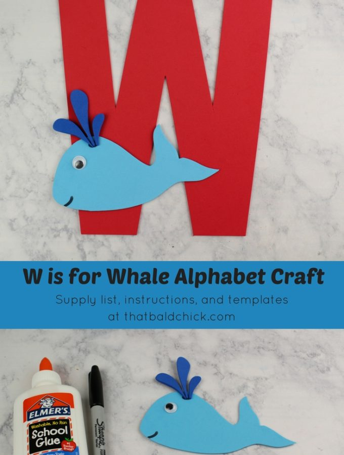 Get the supply list, instructions, and templates for the letter w craft at thatbaldchick.com. #homeschool #preschool #teachers #abc #lotw #hsmommas #homeschooling
