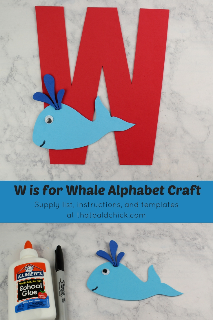 Get the supply list, instructions, and templates for this cute Letter W craft at thatbaldchick.com. #homeschool #preschool #abc #lotw #hsmommas #homeschooling
