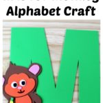 M is for Monkey Alphabet Craft - supply list, instructions, and templates at thatbaldchick.com