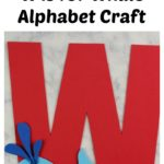 Get the supply list, instructions, and templates for this W is for Whale craft at thatbaldchick.com. #homeschool #preschool #abc #lotw #hsmommas #homeschooling