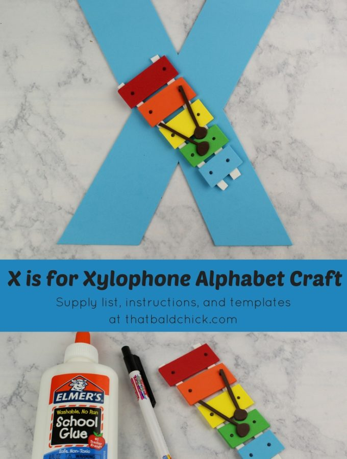 X is for Xylophone Alphabet Craft